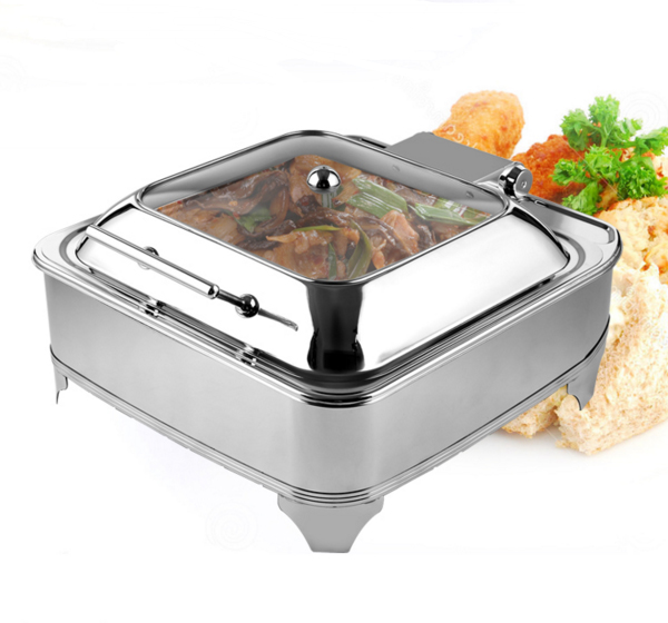 hotel equipment supplier 6l rose gold chafing dish electric heater italy design induction chafing dish