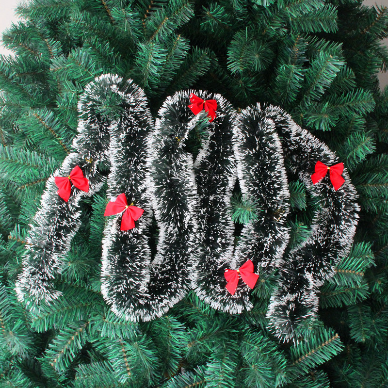 Cheap Xmas Tree Ornament Decoration Party Holiday Christmas Dark Green Ribbon Decor
