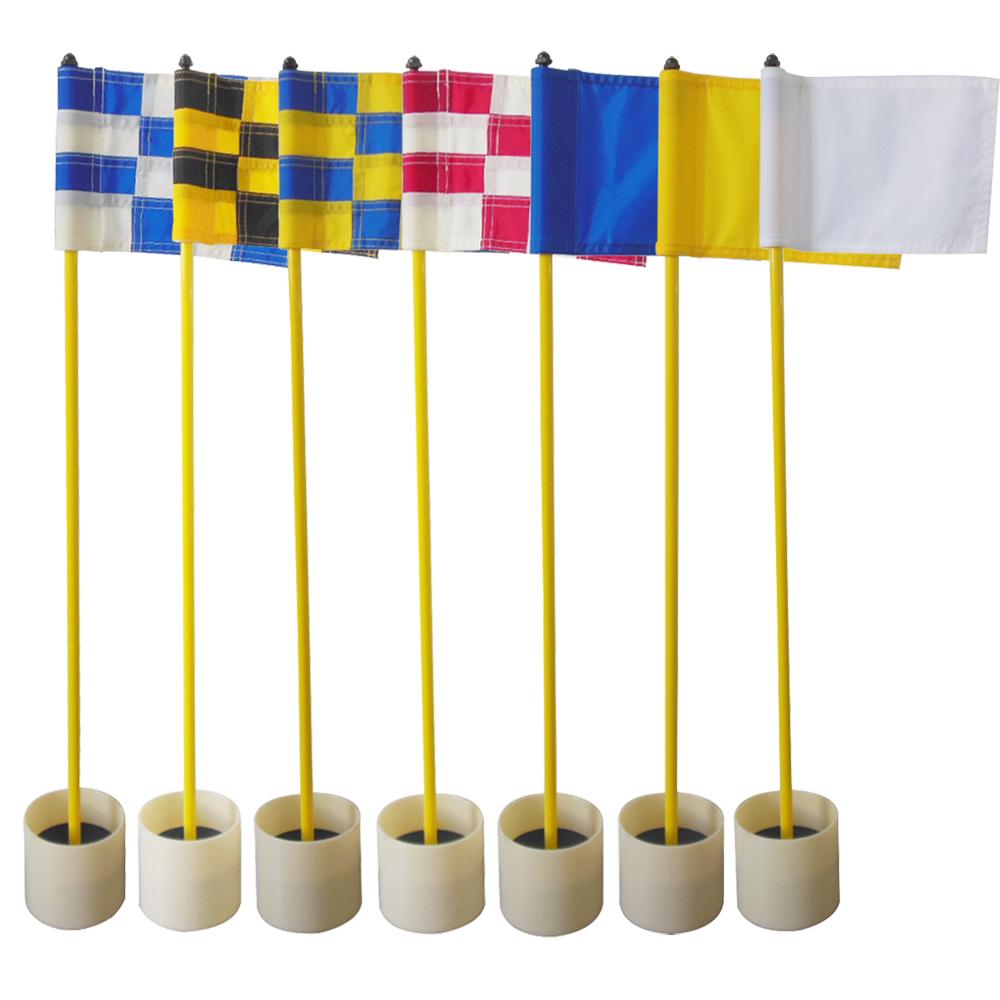1set Golf Green Flagsticks Flag Sticks Backyard Practice