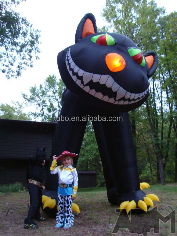 hot sale inflatable halloween black cat for halloween decoration inflatable halloween