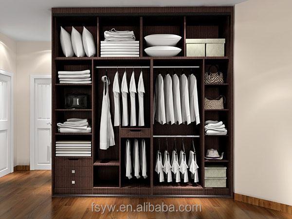 panneau de mlamine portes en bois moderne chambre armoire - Armoire Chambre Moderne