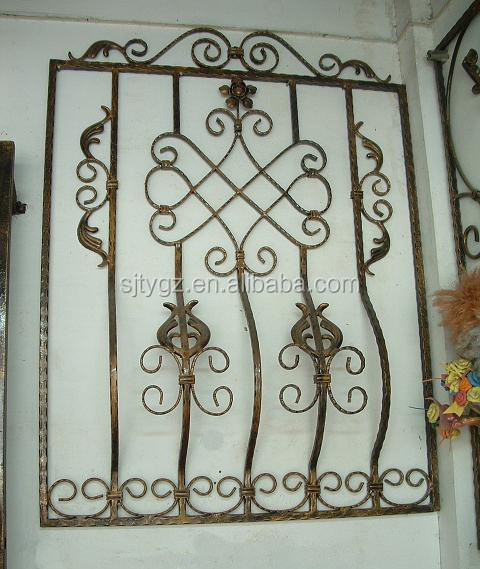 Hot sales wrought iron window grates