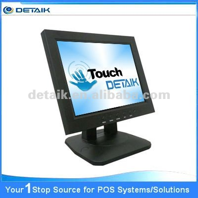 "Resistive Touch Screen 12.1"" LCD Monitor with DVI Interface; USB Touchscreen Monitor"