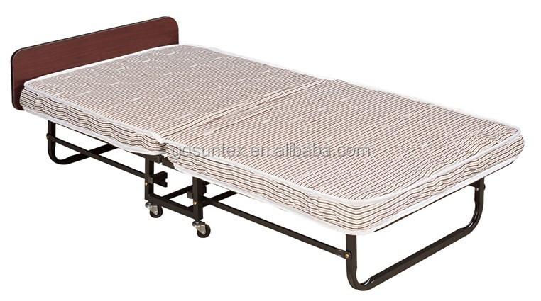 Hotel Add Bed Metal Folding Bed With Wooden Slats Buy