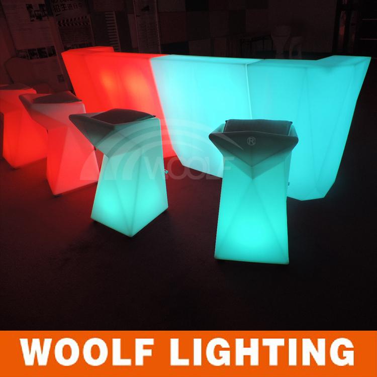 Led Cube Furniture/funny Ktv Disco Bar Furniture/led Bar Stool And Table