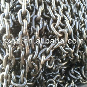 G80 alloy steel round link lift chain for chain pulley block lifts