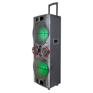 LED DJ Light Portable Subwoofer Stage Active Speaker Karaoke Audio Player Home Speaker Box Portable