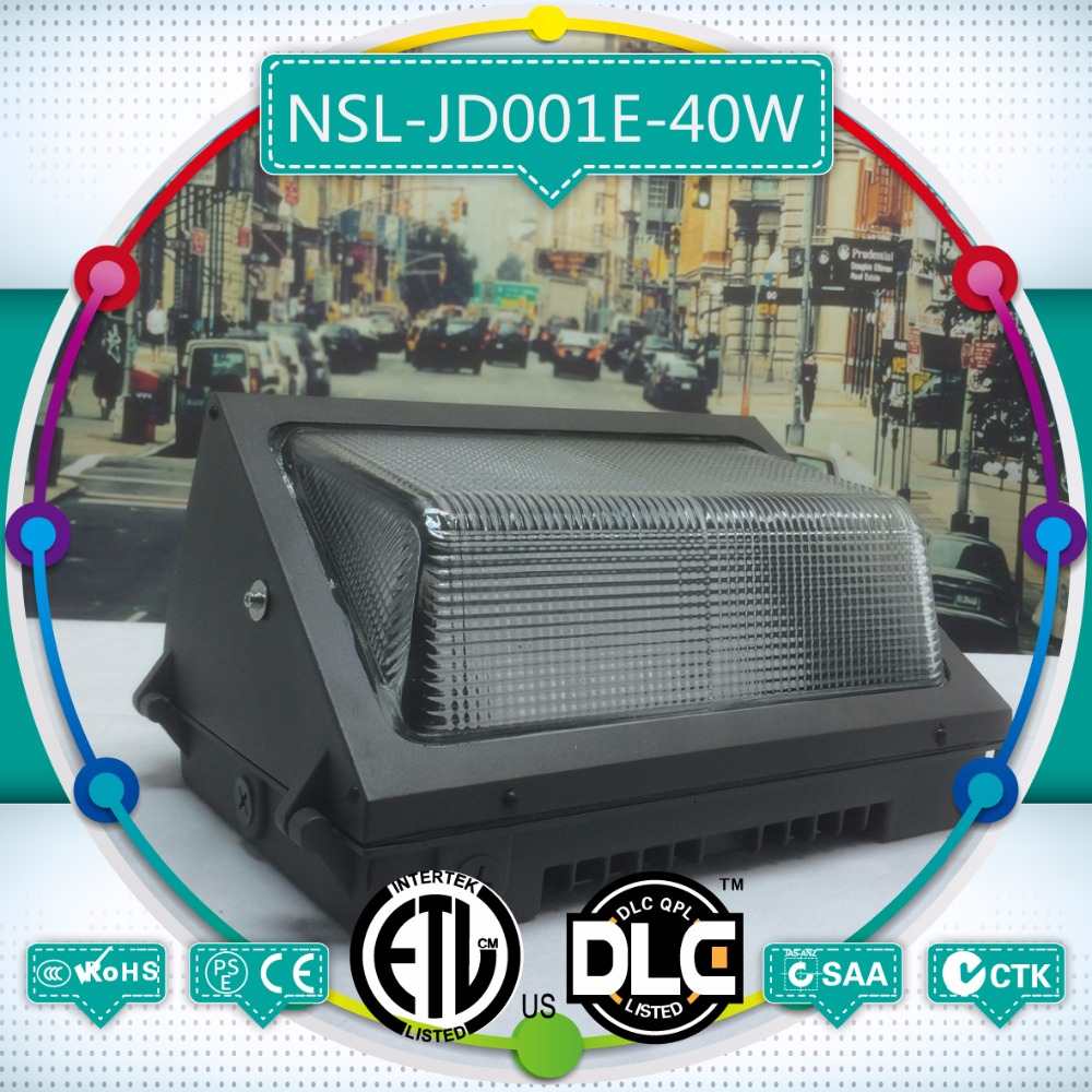 Production and sales 40w LED outdoor wall pack, American style UL power 40w LED wall pack of American style