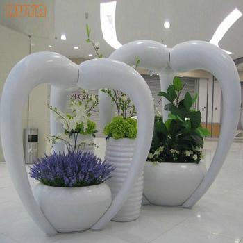 Ruya Quality Commercial Large Planters Sculptural Decoration Pots Fibregl Factory Customized