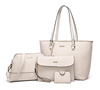 Women Fashion Handbags 4pcs Tote Bag Shoulder Bag Top Handle leather satchel Purse Set