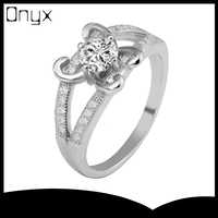 Pure silver 12 Horoscope Taurus ring with 4 fingers prong setting