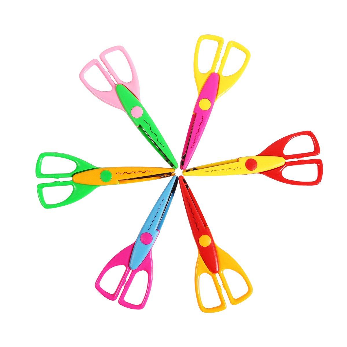 SICOHOME Scrapbooking Decorative Edger Paper Scissors Kids,Set of 6
