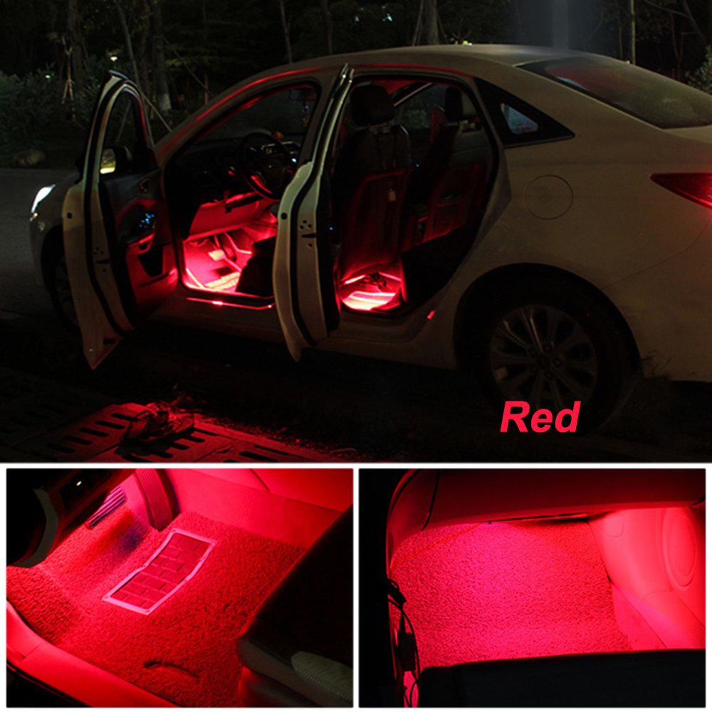 Wholesale price auto atmosphere decorative lamp best seller car interior RGB led strip with music control