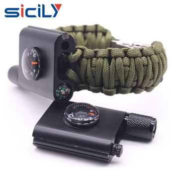 2018 New Design Survival Tactical Paracord Bracelet With Fire