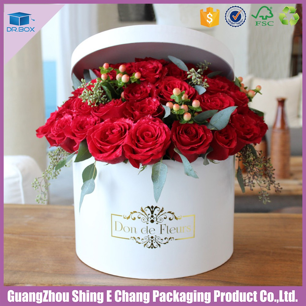 Paper flower boxes ukrandiffusion 2018 custom printed round cylinder paper box for flower hat box izmirmasajfo