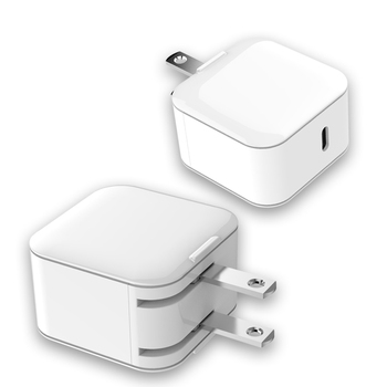PD3.0 18W travel charger foldable US plug with U L certification