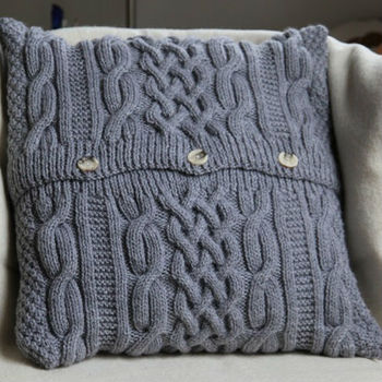 With Button Cable Knit Cushion - Buy Cable Knit Cushion,Cable Knit Cushion,Ba...