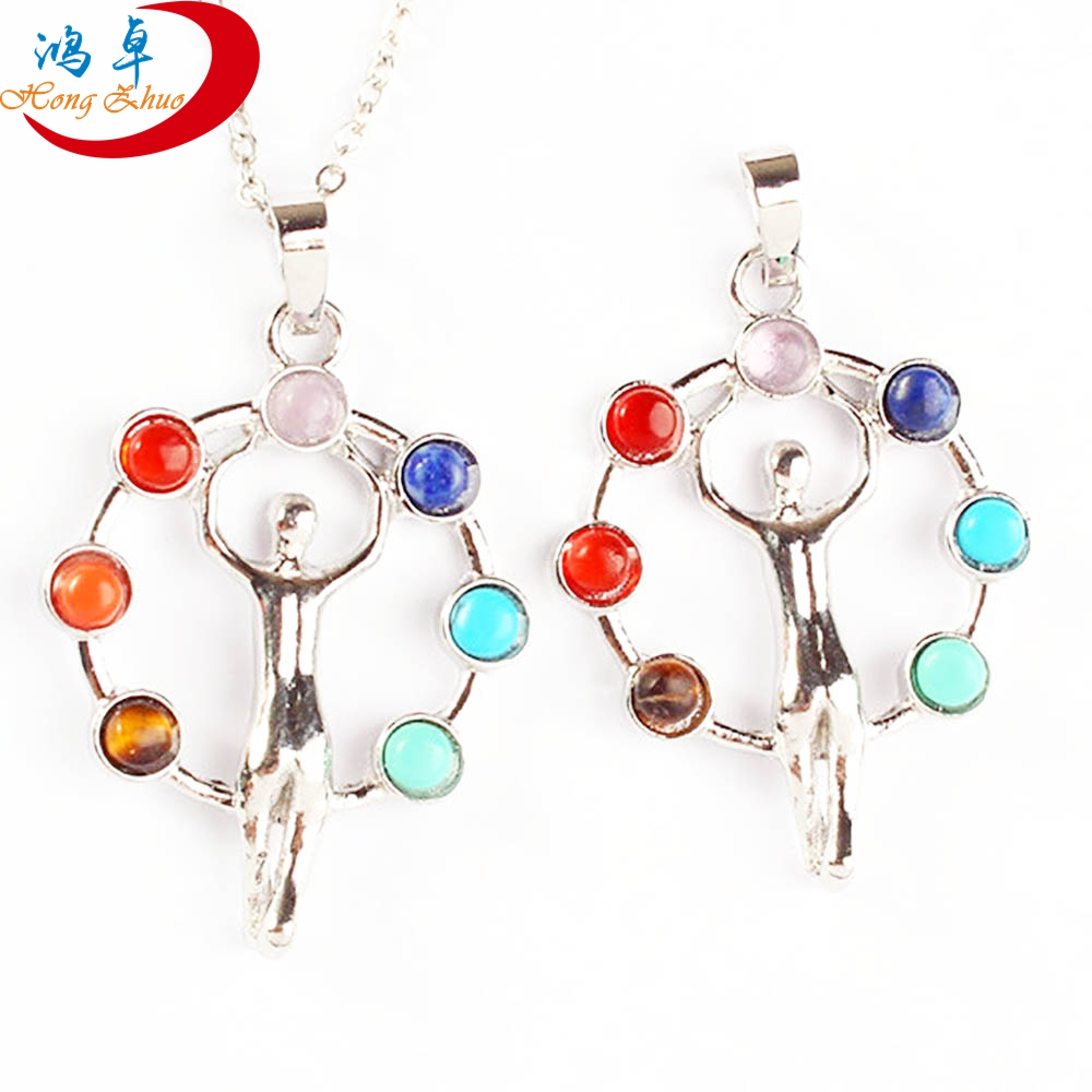 Natural crystal Chakra necklace pendant jewelry stone