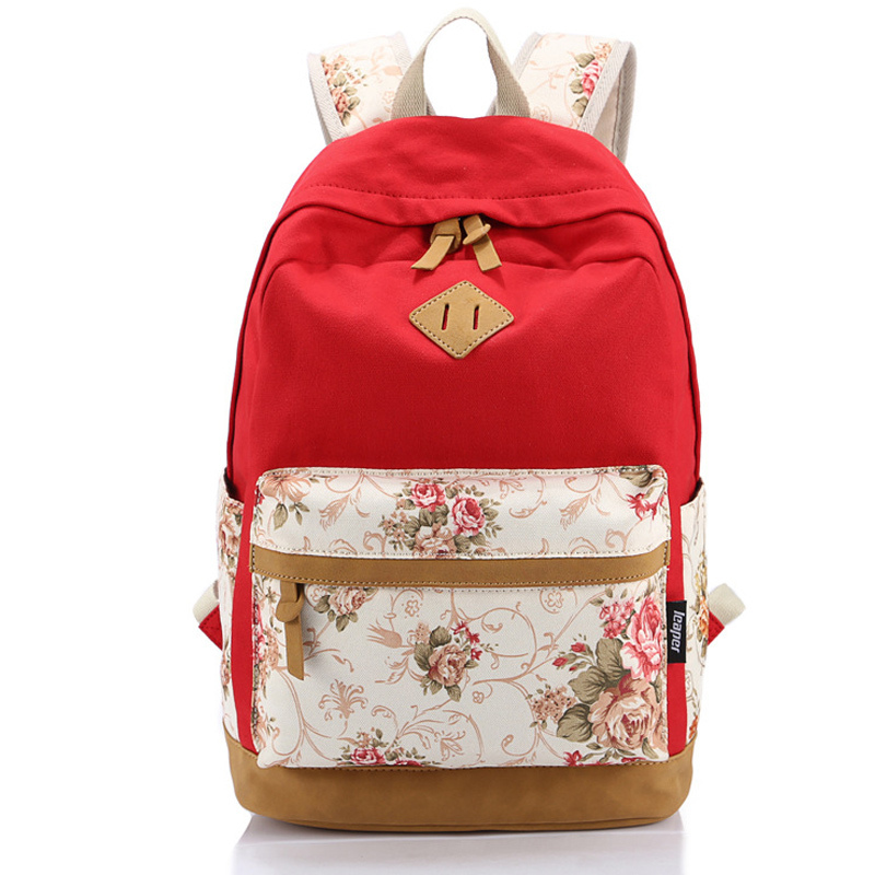Get Quotations · Lady Bags Backpacks Nubuck Leather Printing Canvas Rucksack  Mochila Escolar School Teenager Backpack Female Backpacks for ccfbddbe5fd8c