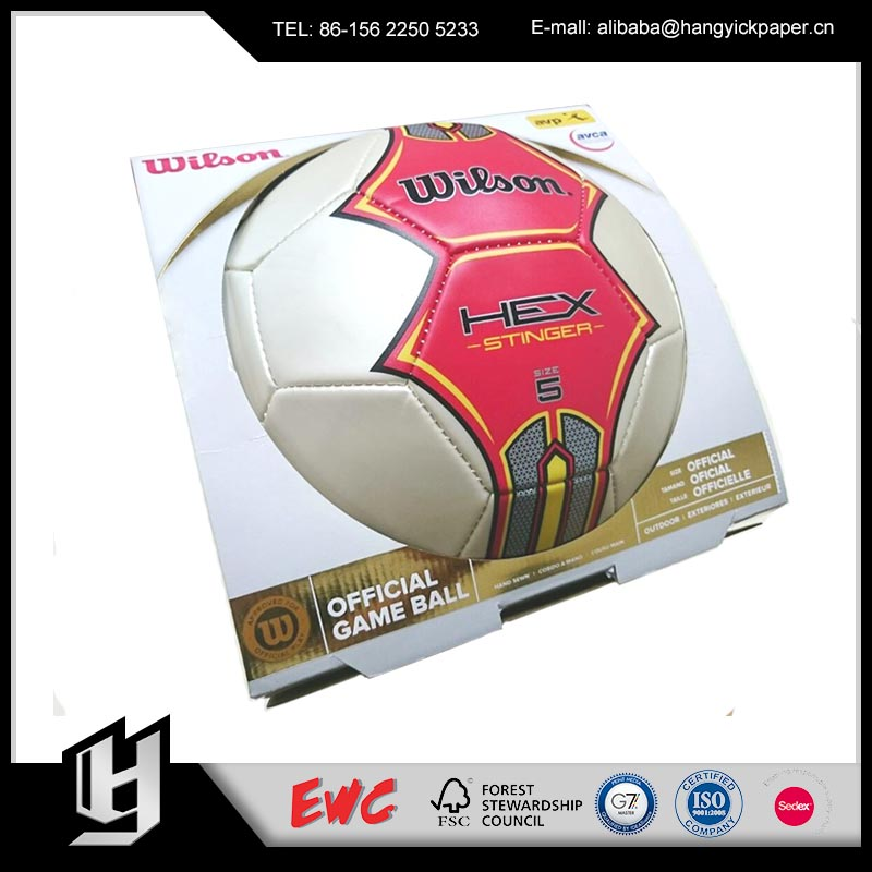 Custom-Made Promotional Price cardboard Toy Football Packaging Box