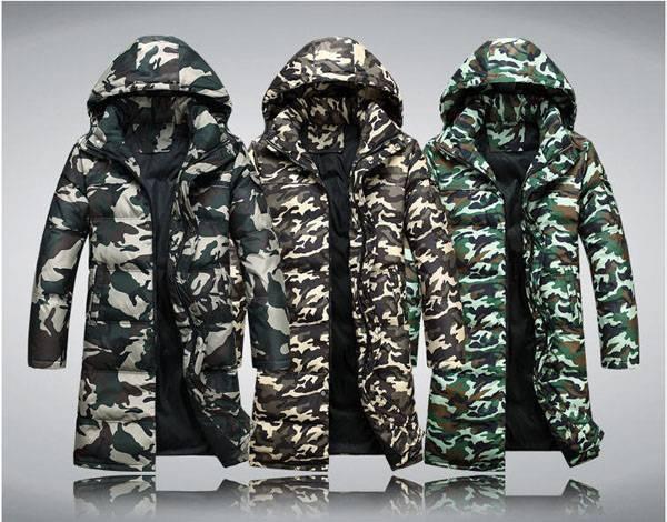 05e34b1fbfb53 2019 Wholesale Men Winter Camouflage Jacket Man Leisure Long Section ...
