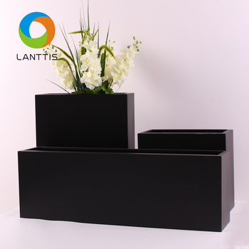 Balcony Tall Black And White Modern Planter Box Buy Bamboo