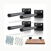 Heavy Duty Bookshelf Hidden Concealed Shelf Support Kit Wall Hanging Floating Brackets