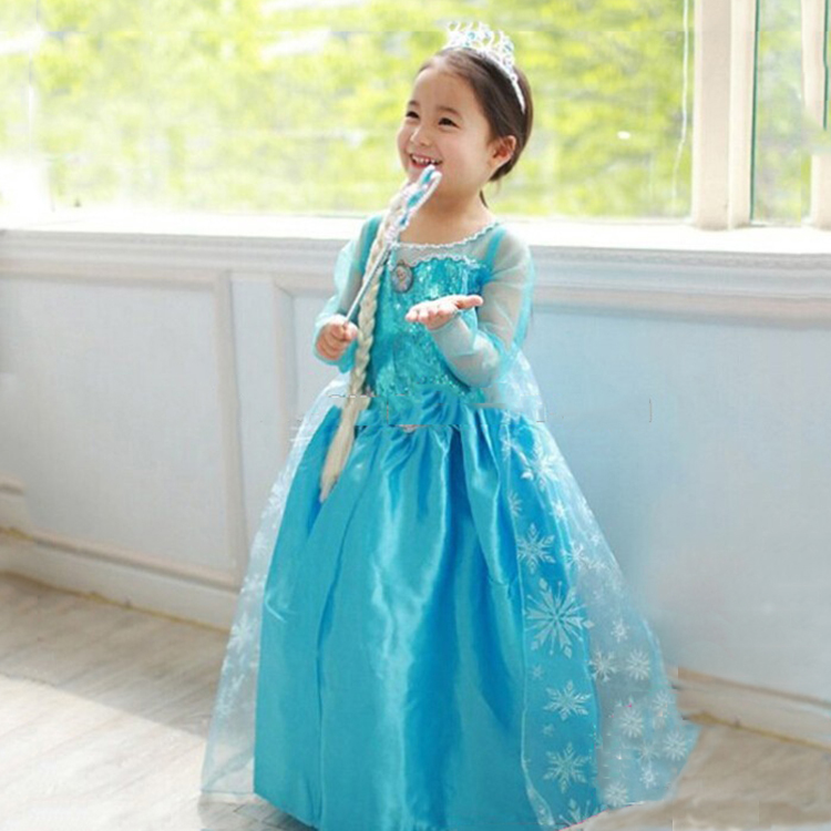 핫 세일 baby cute girls elsa dress 코스프레 마치 남자들 한복 에 frozen elsa anna princess dress