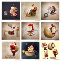 New arrival Cartoon Santa Claus Christmas paintings for kids