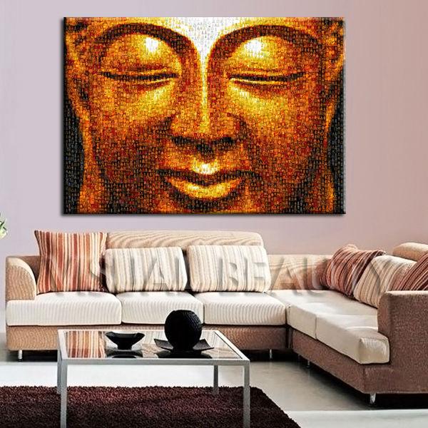 En Gros Cadre Bouddha Peinture Sur Toile Pour Décoration Murale
