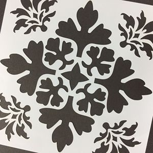 PET Stencil Reusable Floral Painting Template for Wall