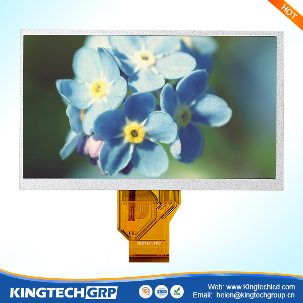 50 pin 7 inch tft digital lcd out door rgb display module
