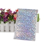 Holographic Metallic Cosmetics Plastic Bubble Ziplock Packaging Jewellery Bag & Pouch With Zipper