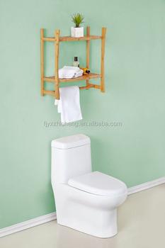 Natual Bamboo Bathroom Wall Shelves/bamboo Wall Mounted Shelves ...