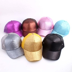 Candy color button shiny frosted baseball cap fitted women's sport cap hat EA024
