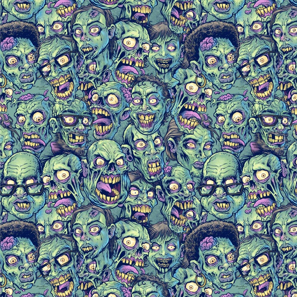 Graphics and More Zombie Pattern Dead Corpses Undead Horror Premium Roll Gift Wrap Wrapping Paper