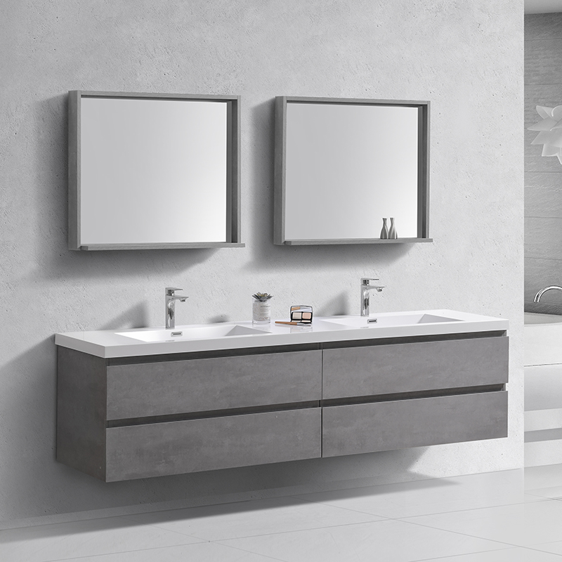 Wall Hung Double Sink Basin Bath Vanity