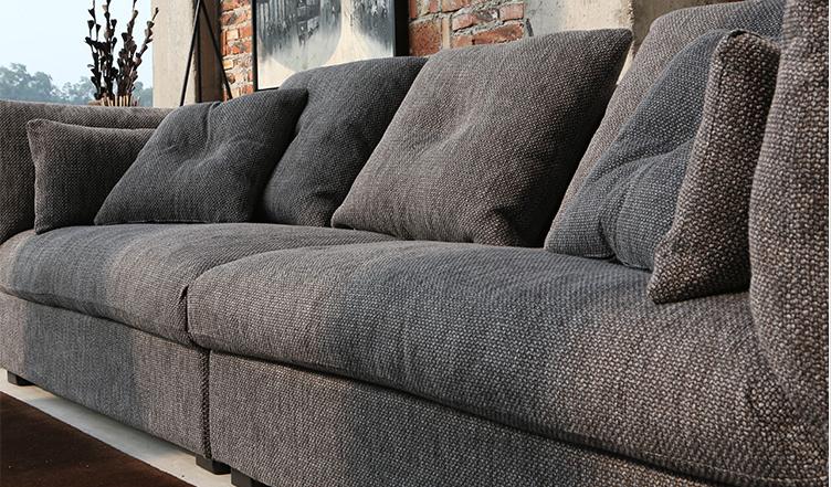 Diseño italiano moderno simple color gris tejido tejido sofá ...