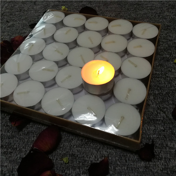 Cheap customized white 100% paraffin bulk supplier tealight candles