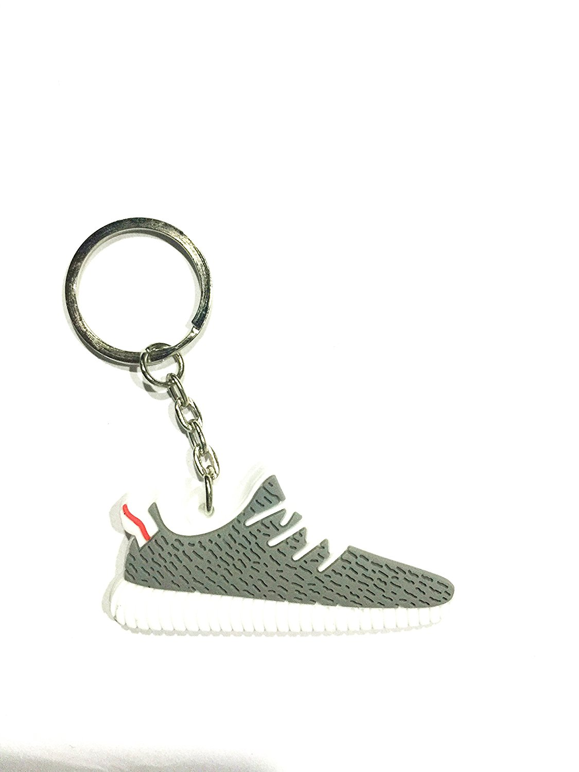f09ffa5b6 Get Quotations · Cute Silicone Yeezy 350 Boost Key Chain Sneaker Keychain  Kids Key Rings Key Holder Llaveros Chaveiro