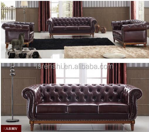 2016 most popular new design European style sofa/European style futniure sofa/American and European leather sofa on hot ES007#