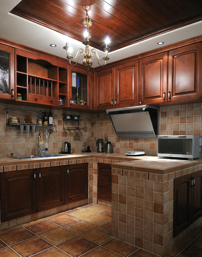 Oem Modular Kitchen Design For Solid Wood Kitchen Cabinet ...