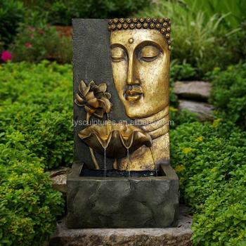 Hot Sale Antique Outdoor Stone Buddha Head Wall Fountain