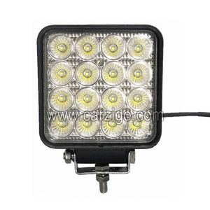 waterproof super bright 48w 12v automotive led work lights for offroad truck tractor