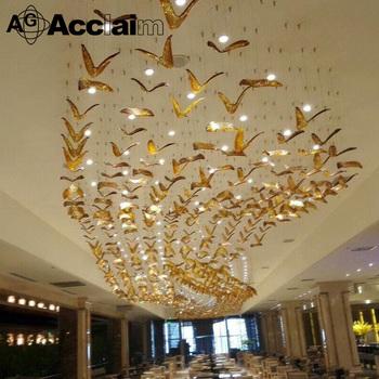 Handmade glass pendant lamp large luxury chandelier lighting for handmade glass pendant lamp large luxury chandelier lighting for hotel lobby project mozeypictures Gallery