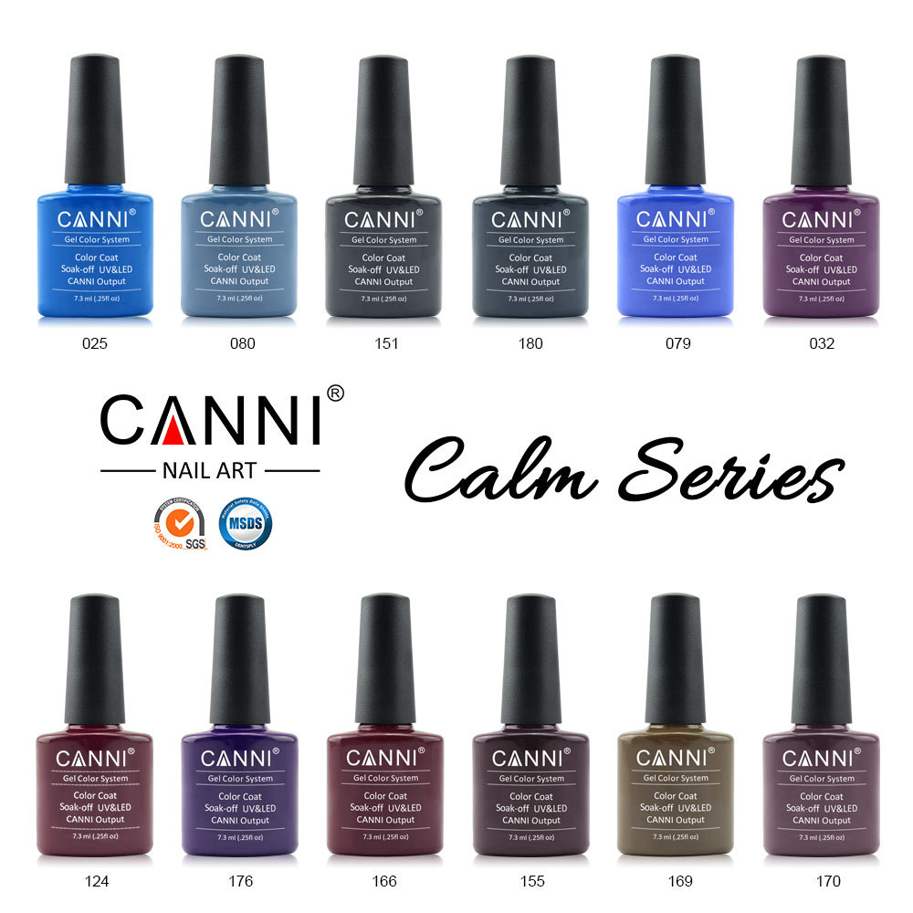30917x CANNI Gel Polish Soak off UV/LED Color Gel OEM 238 Colors 7.3ml Nail Art CANNI Gel Varnish