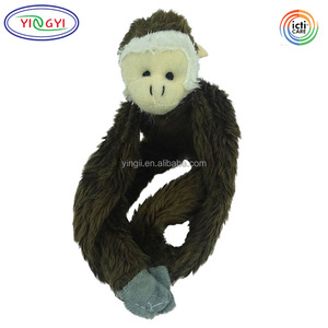 D818 Soft Farm Fridge Magnets Mates Long Arms Brown Monkey Animals Toy Stuffed Magnet Plush Monkey