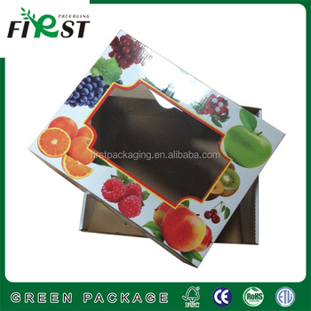 fruit/ vegetable packaging paper box cardboard boxes with pp window