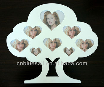 8 Openings Mdf Collage Frameheart Shaped Wooden Collage Frame