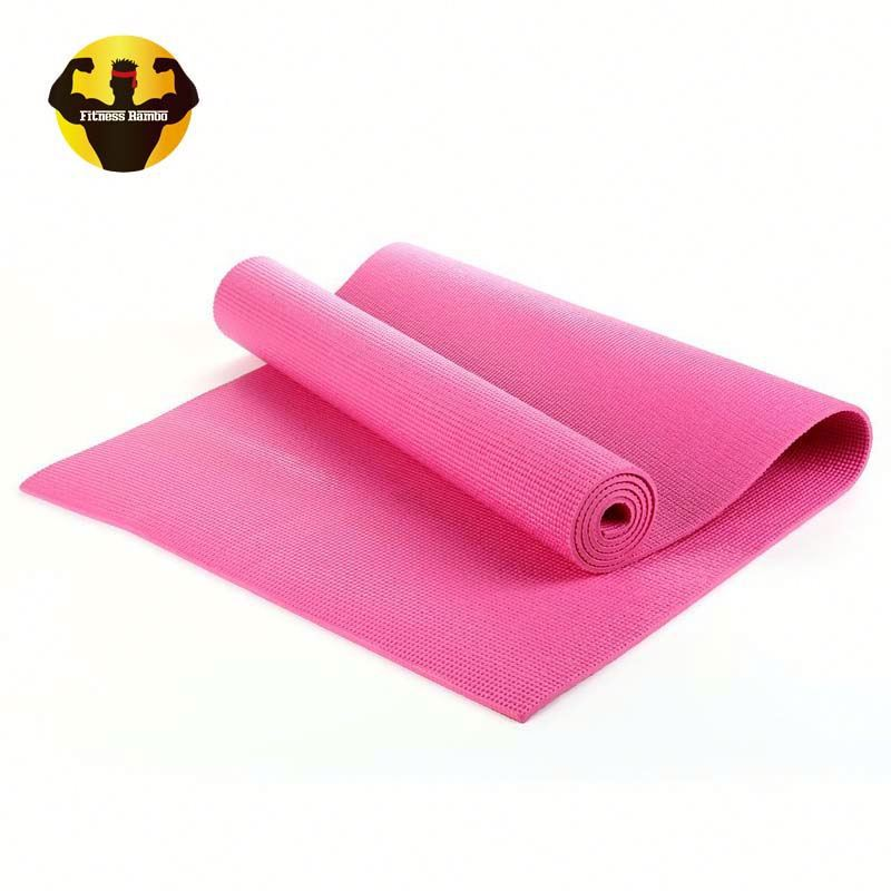 RAMBO Supplier pvc yoga mat double color single printed